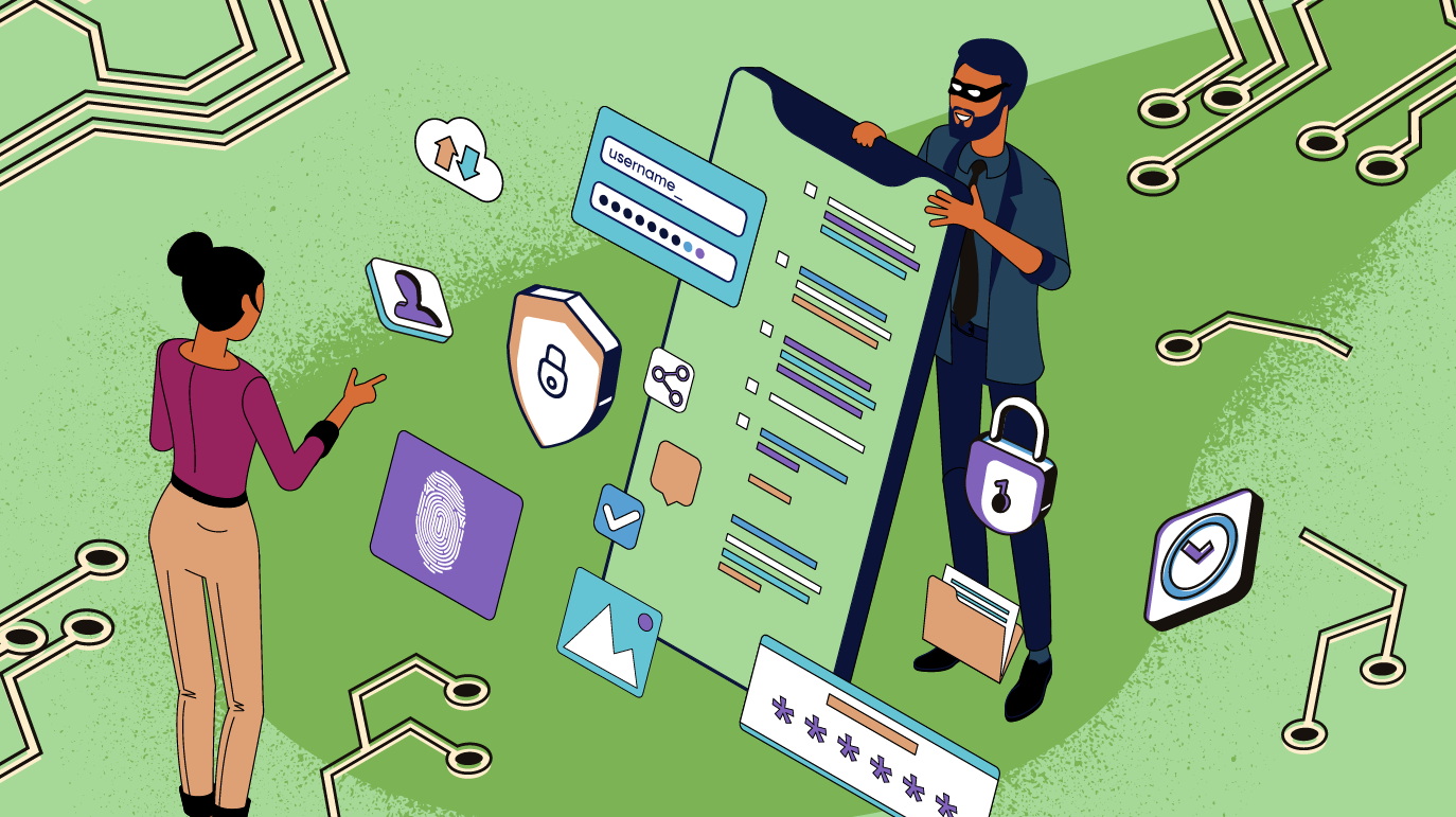 Illustration demonstrating how digital trust is built